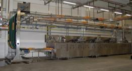 3-spurige Modulkettendurchlauf- Tauchbeckenanlage Mit Abblasung und autom. Abwasserentsorgung Kapazität 7.500 bis 10.000 Stk/h