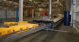 3-spurige Moduldurchlauf-Tauchbeckenanlage Mit Abblasung und autom. Abwasserentsorgung Kapazität 7.500 bis 10.000 Stk/h