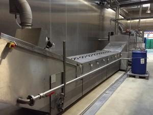 2-spurige Tauchbad-Waschanlage (gebraucht) mit einer Reinigungskapazität von 2.000 Stk. pro Stunde